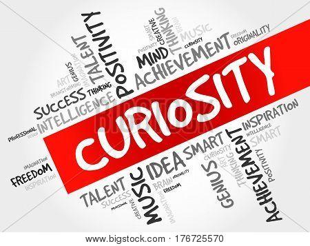 Curiosity Word Cloud Collage