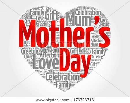 Mother's Day Heart Word Cloud Collage