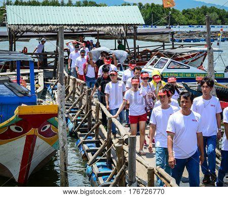 Tourists At Pier In Vung Tau, Vietnam