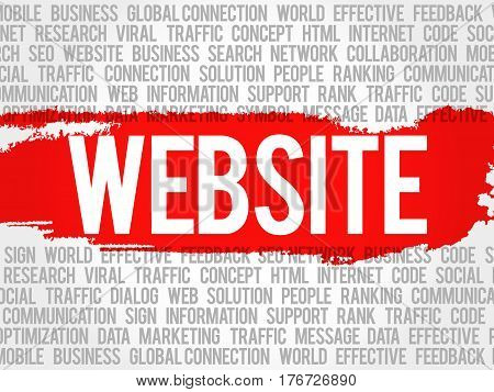 Website Word Cloud Collage