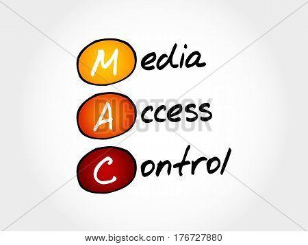 MAC Media Access Control , acronym concept
