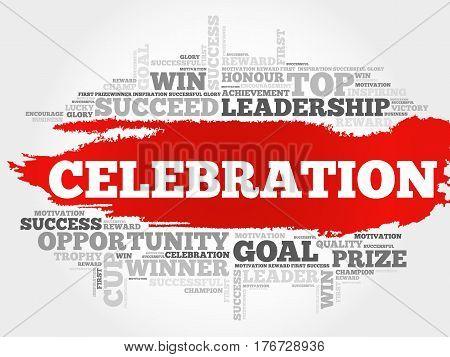 Celebration word cloud collage , business concept