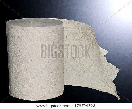 Toilet paper in the elegant dark background