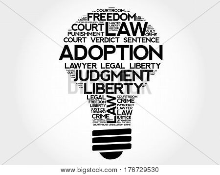 Adoption Bulb Word Cloud Collage