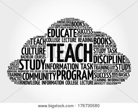 Teach Word Cloud Collage