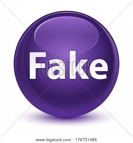 Fake Glassy Purple Round Button