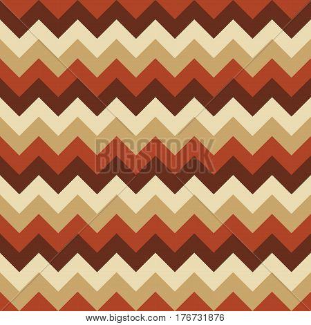 Chevron pattern seamless vector arrows geometric design colorful beige light brown dark brown