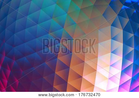 Abstract modern multi colors geometrical pattern background. Colorful Polygonal Mosaic Pattern.
