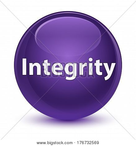 Integrity Glassy Purple Round Button