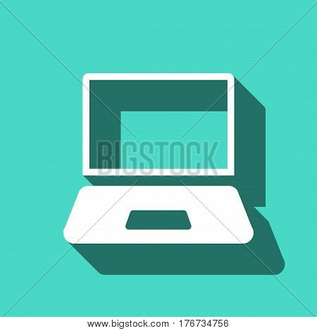 laptop icon stock vector illustration flat design