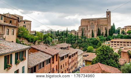 san, domenico, basilica, siena, cateriniana, church, tuscany, italy, architecture, building, religion, gothic, cathedral, catholic, city