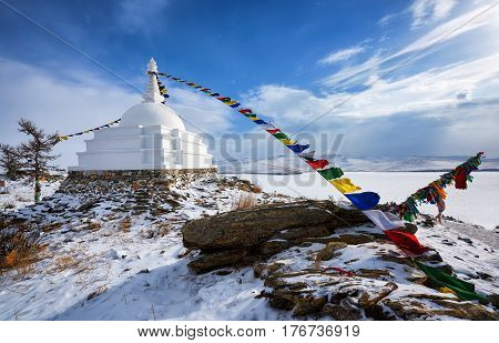 Enlightenment Stupa - A Place Of Meditation On An Uninhabited Island On Lake Baikal