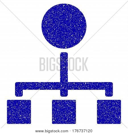 Grunge Hierarchy rubber seal stamp watermark. Icon symbol with grunge design and dirty texture. Unclean vector blue sticker.