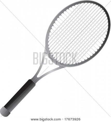 isolated tennis racket