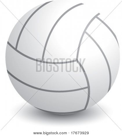 isolated volleyball