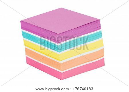 Note paper colorful isolated on a white background