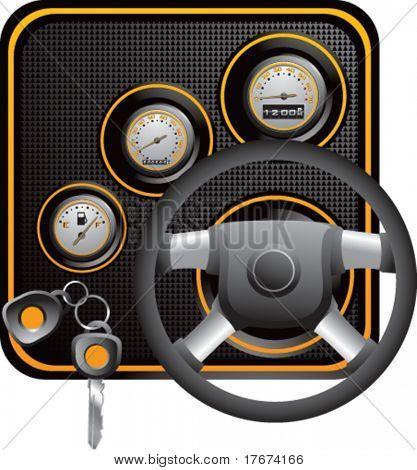 generic yellow dashboard