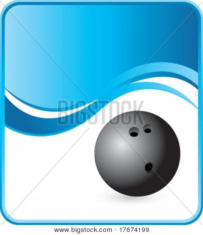 classy bowling ball background