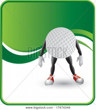 classy golf ball man background