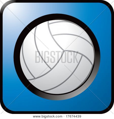 shiny colored volleyball icon
