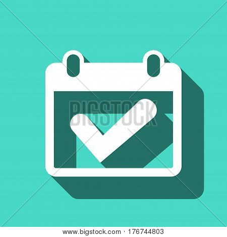 calendar icon stock vector illustration flat design