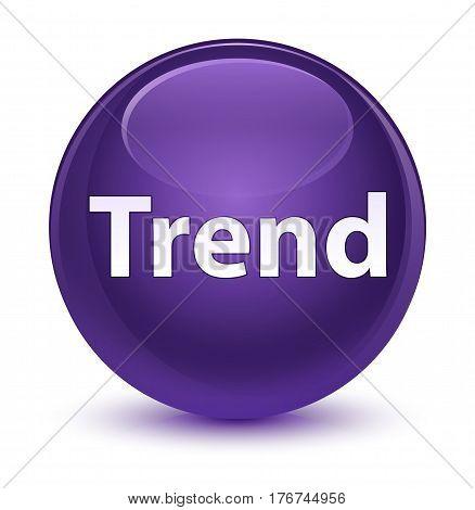 Trend Glassy Purple Round Button