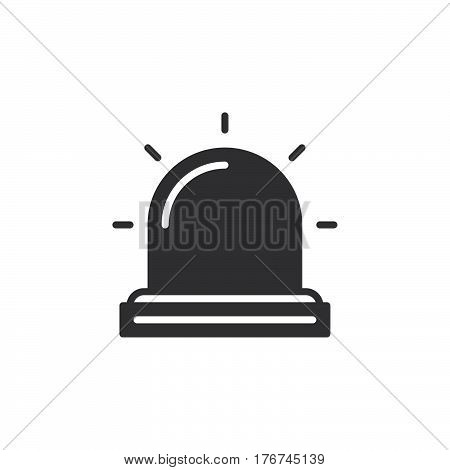 Flasher Alarm lamp icon vector filled flat sign solid pictogram isolated on white. Symbol logo illustration