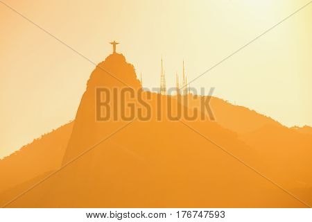 Christ Redeemer Statue Abstract Shot