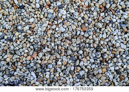 Colorful different colors gravel background, Natural pattern for design.