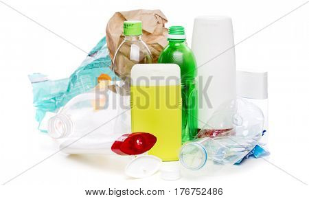 Photo of used plastic bottles