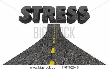 Stress Driving Word Road Rage Anger Emotion 3d Illustration