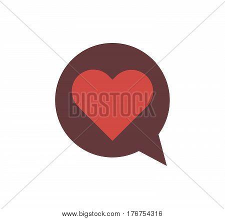 Heart love on white background vector valentine
