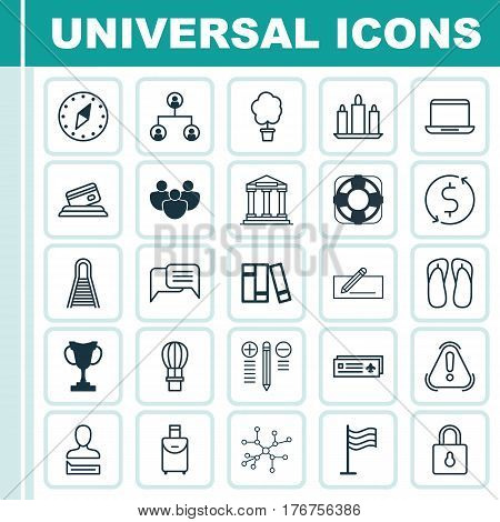 Set Of 25 Universal Editable Icons. Can Be Used For Web, Mobile And App Design. Includes Elements Such As Cardinal Direction, Decision Making, Chatting Person And More.