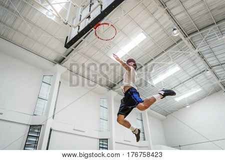 Basketball Bounce Exercise Sport Stadium Play Concept
