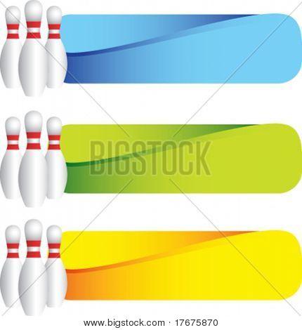 horizontal banner bowling pins