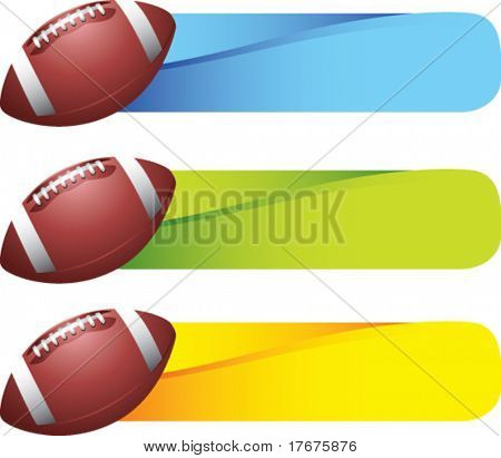 horizontal banner footballs