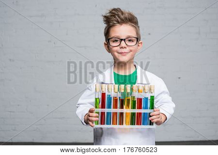 Little Boy With Test Tubes