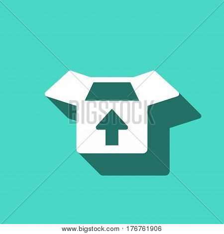 open box with arrow icon stock vector illustration flat design