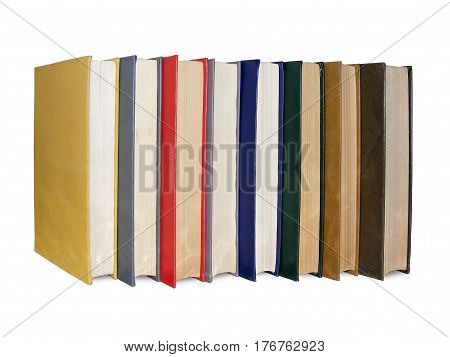 photography with scene of the big pile of the books on white background