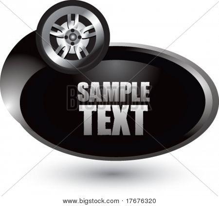 silver swoosh tire icon