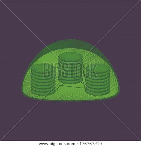 flat shading style icon chloroplast medical structure