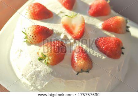 strawberry shortcake or strawberry cheese cake dish