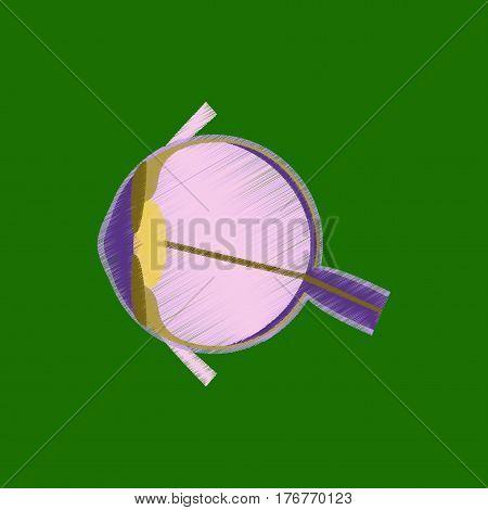 flat shading style icon human eye medical