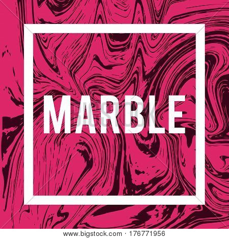 Marble or ink liquid texture. Abstract vector background, aqua print.