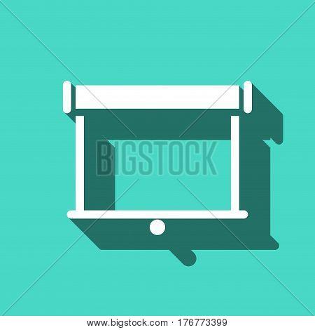 projector icon stock vector illustration flat design