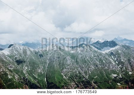 Mountains Landscape Aerial View Serene Scenery Wild Nature Calm Scene.