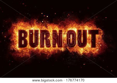 burnout burn flames fire explosion explode text