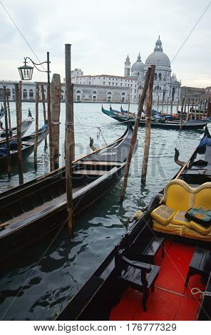 Venice Grand canal and gondolas landscape italy