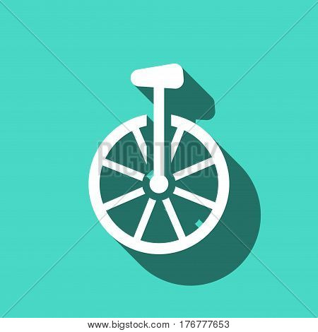 unicycle icon stock vector illustration flat design