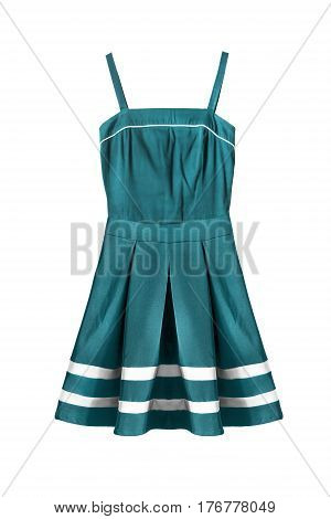 Blue sailor styled sundress on white background